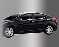 Hyundai Elantra 2011- Нижний молдинг стекла 4шт