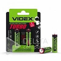 Батарейки пальчиковые Videx Turbo Alkaline LR6 АА, щелочная, 2 шт, 1.5V, батарейка Videx, Батарея, батареи и аккумуляторы, батарея