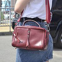 "Женская кожаная сумка ""Касандра Red Wine"", фото 1"