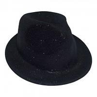 Шляпа детская Мафия блестящая (черная)