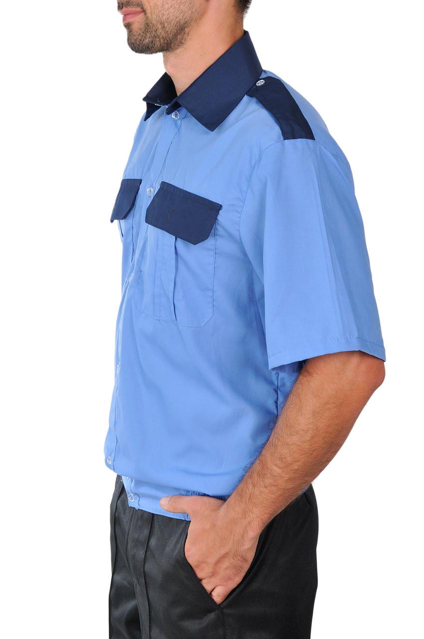 Рубашка с коротким рукавом комбинированная