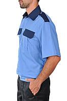 Рубашка с коротким рукавом комбинированная, фото 1