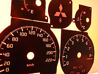 Шкалы приборов Mitsubishi Lancer 9, фото 1
