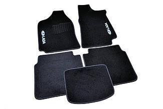 Ворсовые коврики для Lada 2107 Текстильные в салон авто (чёрный) (StingrayUA.)