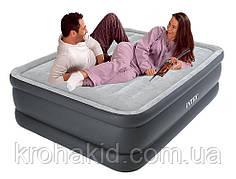 Двуспальная надувная кровать Intex 64140 + встроенный электронасос 220V 152x203x51 см