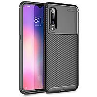 Чехол Carbon Case Xiaomi Mi 9 Черный
