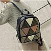 Женский рюкзак София с ромбиками и заклёпками Розовый 1031 🎁 Браслет в подарок, фото 6
