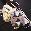 Женский рюкзак София с ромбиками и заклёпками Розовый 1031 🎁 Браслет в подарок, фото 8