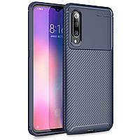 Чехол Carbon Case Xiaomi Mi 9 Синий