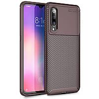 Чехол Carbon Case Xiaomi Mi 9 Коричневый