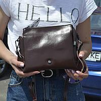 """Женская кожаная сумка """"Изиури Brown"""", фото 1"""