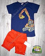 """Стильная летняя футболка для мальчика """"Экскаватор"""""""