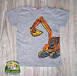 """Стильная летняя футболка для мальчика """"Экскаватор"""", фото 3"""
