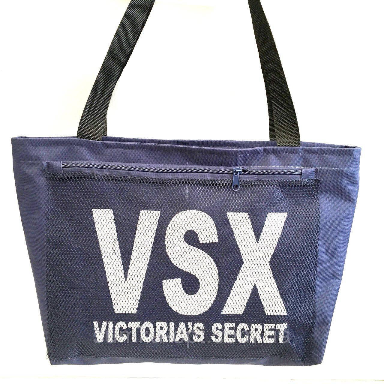 Универсальные сумки оптом для покупок Victiria's Secret (синий)28*48см