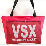 Универсальные сумки оптом для покупок Victiria's Secret (синий)28*48см, фото 4