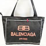 Универсальные сумки оптом для покупокBalenciaga (черный)28*48см, фото 3
