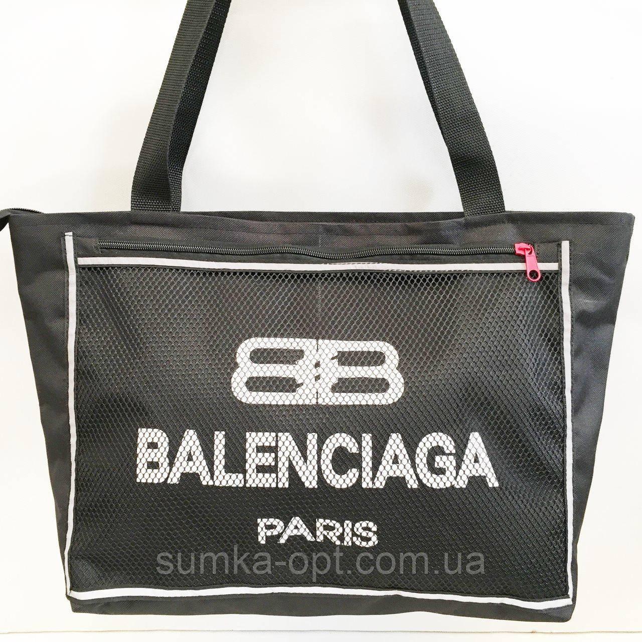 Универсальные сумки оптом для покупокBalenciaga (черный)28*48см
