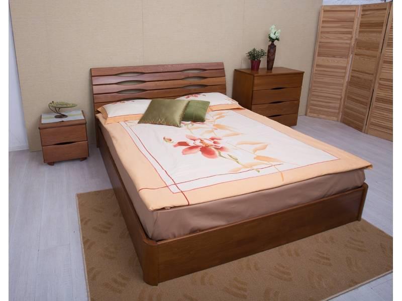 Двуспальная кровать Микс Мебель Мария 1600*2000 с подьемным механизмом Светлый орех