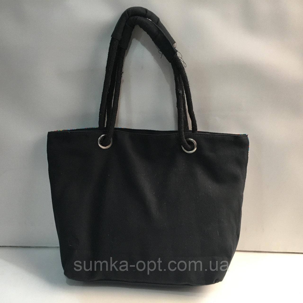 Универсальные сумки оптом для покупок (голубой цветы)31*44см