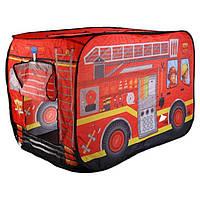 Палатка игровая детская Bambi M 3716, пожарная машина, фото 1