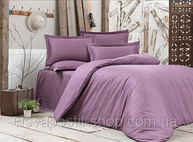 Постельное белье страйп-сатин Murdum (фиолетовый)