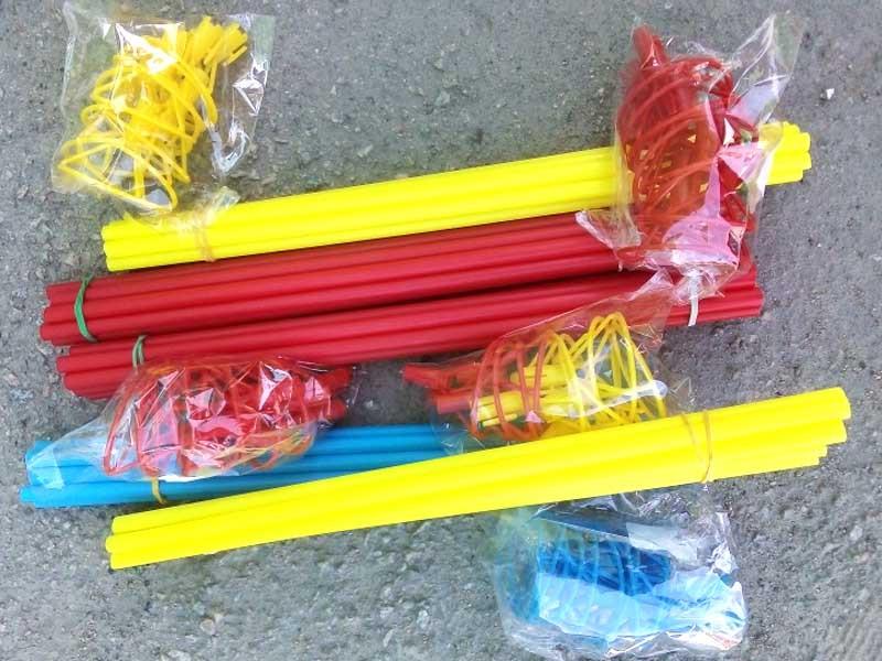 Палочка для воздушного шара цветная 50шт