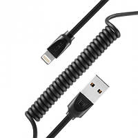 USB кабель Remax Radiance Pro Spring RC-117i Lightning, 1m back, фото 1