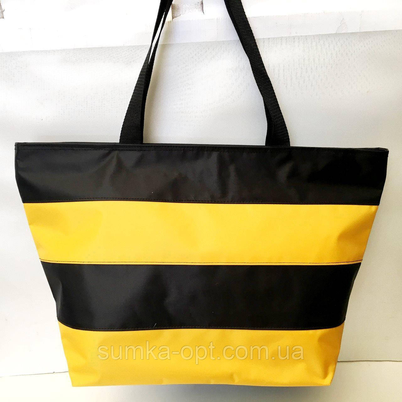 Универсальные сумки оптом для покупок (черный-желтый)34*55см
