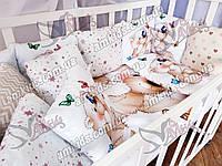 """Комплект постельного в детскую кроватку для новорожденных """"Panal"""" бабочка"""