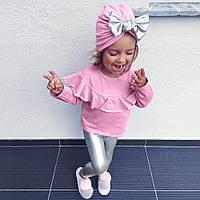 MUQGEW/Модный комплект одежды для маленьких девочек, комплект из 3 предметов: Топ + штаны + шапка