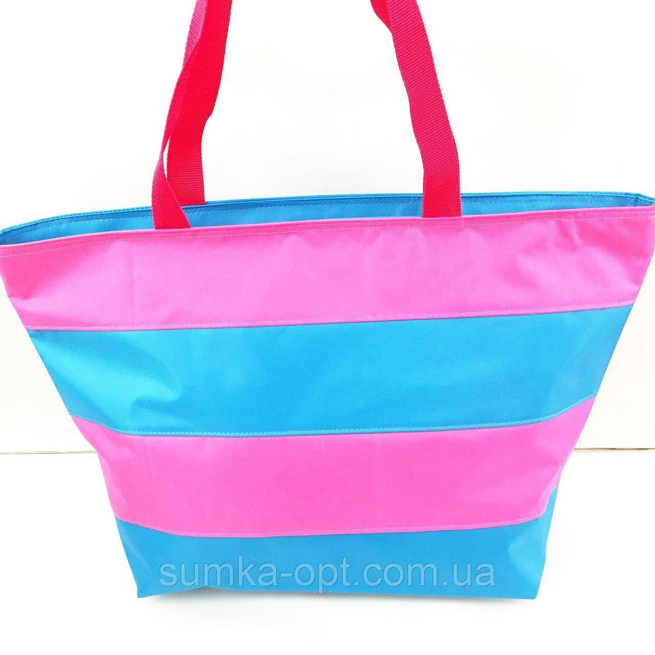 Универсальные сумки оптом для покупок (синий-фуксия)34*55см