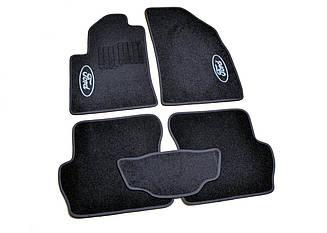Ворсовые коврики для Ford C-Max (2011-) Текстильные в салон авто (чёрный) (StingrayUA.)