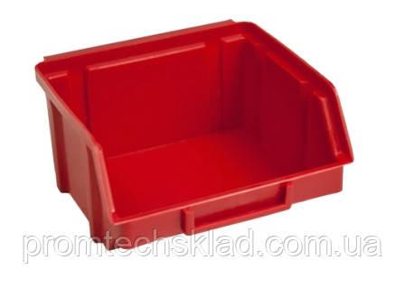 Ящик складской 703 для хранения метизов красный