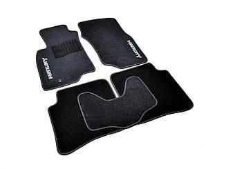 Ворсовые коврики для Mitsubishi Pajero Wagon (1999-2006) Текстильные в салон авто (чёрный) (StingrayUA.)
