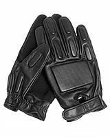Перчатки кожанные с накладками Mil-tec (Black)