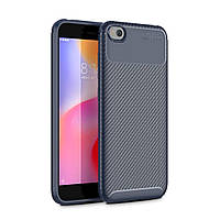 Чехол Carbon Case Xiaomi Redmi Go Синий
