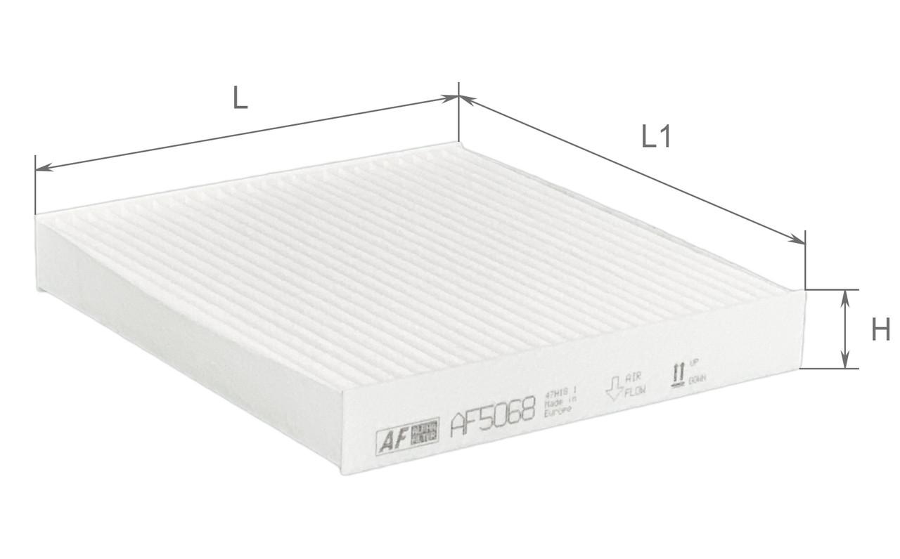 Фильтр салонный Alpha Filter AF5068 (K1210)