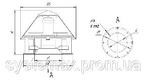 Вентилятор крышный ВКР №8, фото 2