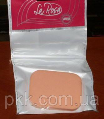 Спонж для нанесения пудры и тонального крема La Rosa прямоугольный 511 SPN