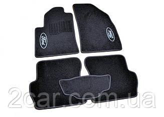 Ворсовые коврики для Ford C-Max (2003-2010) Текстильные в салон авто (чёрный) (StingrayUA.)