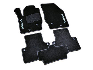 Ворсовые коврики для Volvo S40 (2004-) Текстильные в салон авто (чёрный) (StingrayUA.)