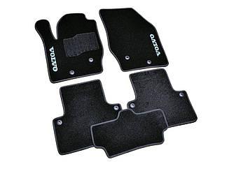 Ворсовые коврики для Volvo S60 (2000-2009) Текстильные в салон авто (чёрный) (StingrayUA.)