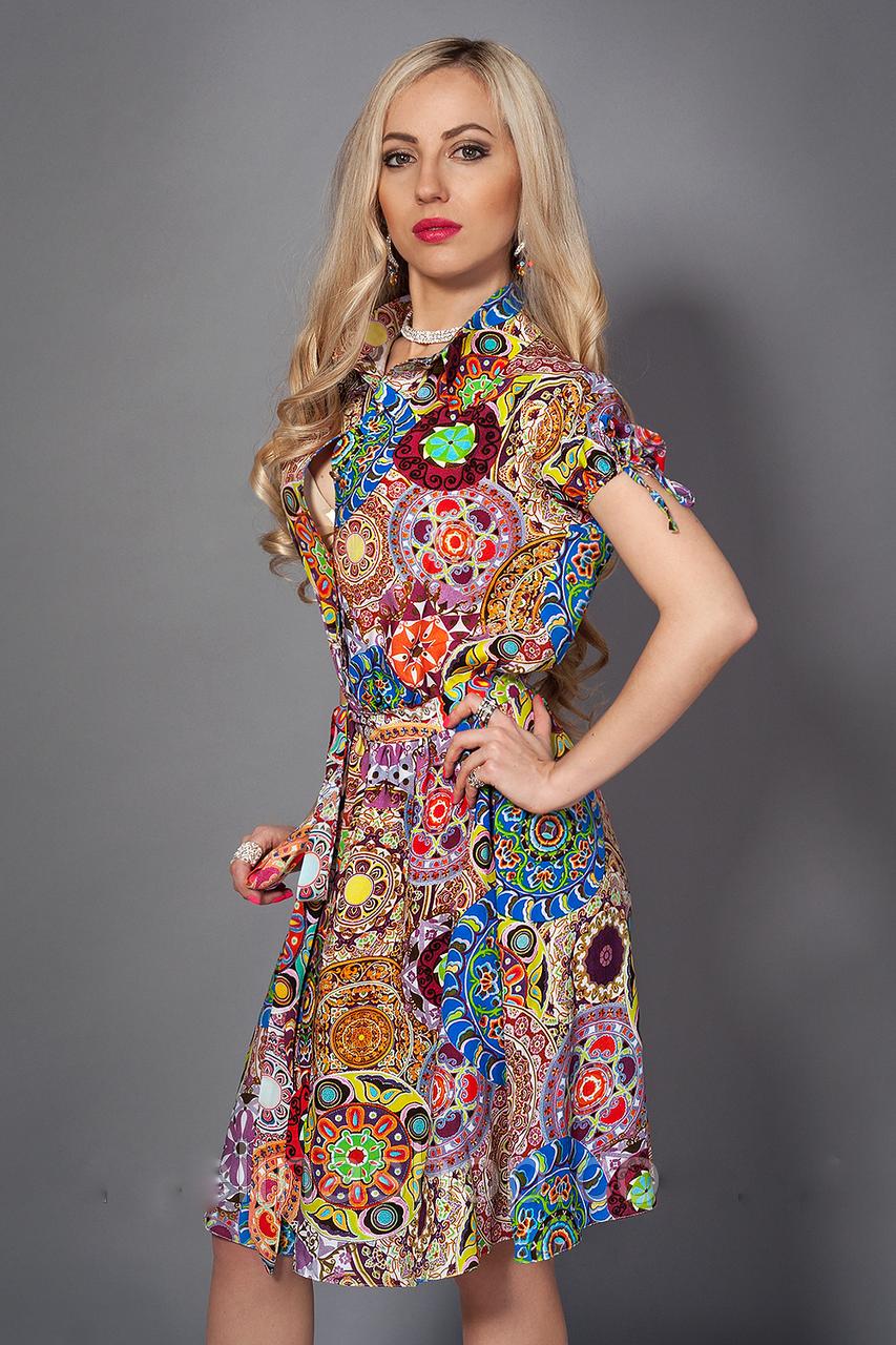 Женское летнее платье размер 42-44,44-46,46-48