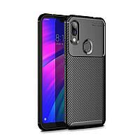 Чехол Carbon Case Xiaomi Redmi 7 Черный
