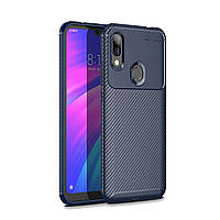 Чехол Carbon Case Xiaomi Redmi 7 Синий