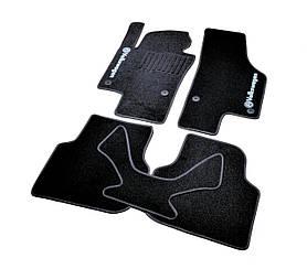 Ворсовые коврики для VW Caddy (2004-) Текстильные в салон авто (чёрный) (StingrayUA.)