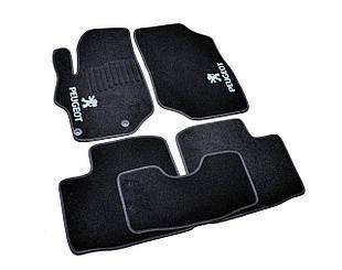 Ворсовые коврики для Peugeot 4007 Текстильные в салон авто (чёрный) (StingrayUA.)