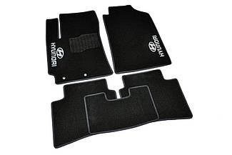 Ворсовые коврики для Hyundai i10 (2007-) Текстильные в салон авто (чёрный) (StingrayUA.)