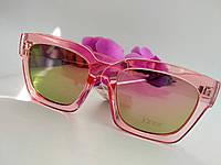 Имиджевые солнцезащитные квадратные очки вайфаер, розовые зеркальные (061), фото 1