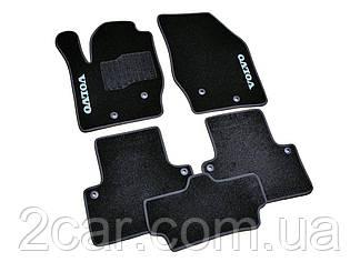 Ворсовые коврики для Volvo ХC90 Текстильные в салон авто (чёрный) (StingrayUA.)